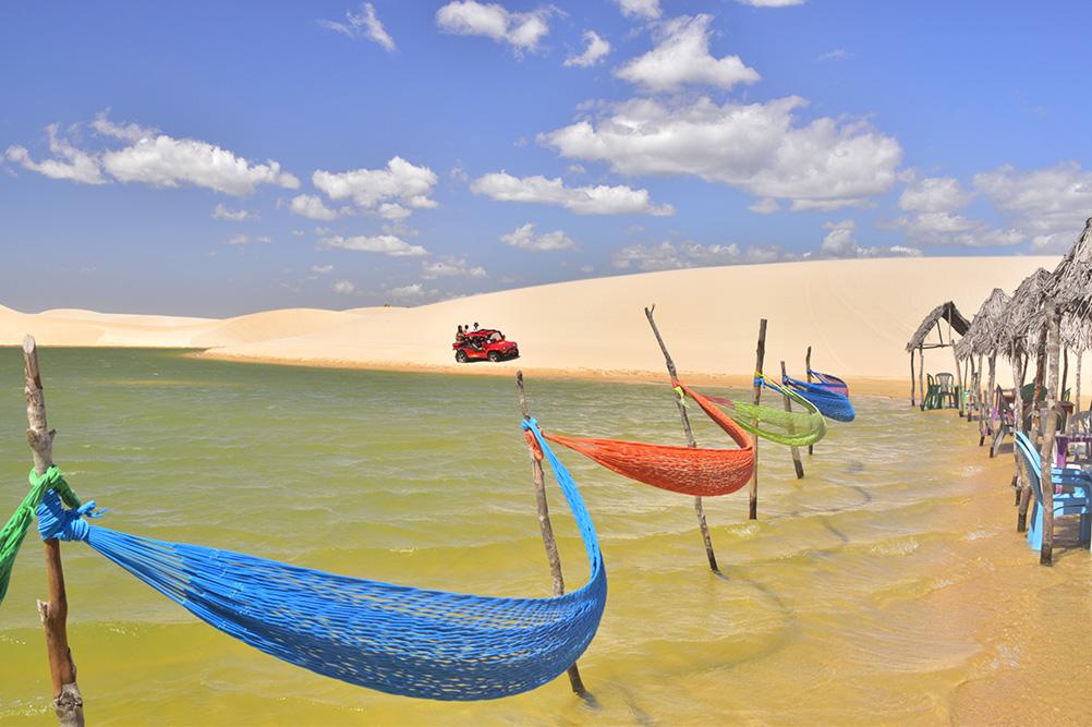 Jericoacoara Brazil Kitesurfing Lagoon Hammoks